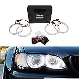 iJDMTOY 7000K Xenon White 264-SMD LED Angel Eyes Halo Ring Lighting Kit for BMW E36 E46 3 Series E39 5 Series E38 7 Series with Adaptive Xenon HID Headlight