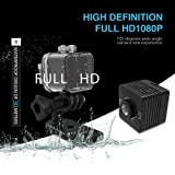 Mini Camera SQ12 Mini Sports HD DV Waterproof Camcorder 1080P Night Vision Wide Angle FOV155 Small Surveillance Camera 30 Meters for Home Office Outdoors Swimming