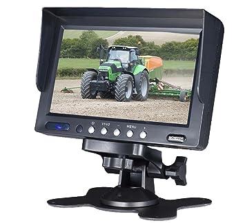 Dietz AV6024DM ÉcranLCD NTSC/PAL pour voiture avec entrées audio/vidéo / plusieurs options de montage Support inclus 6pouces