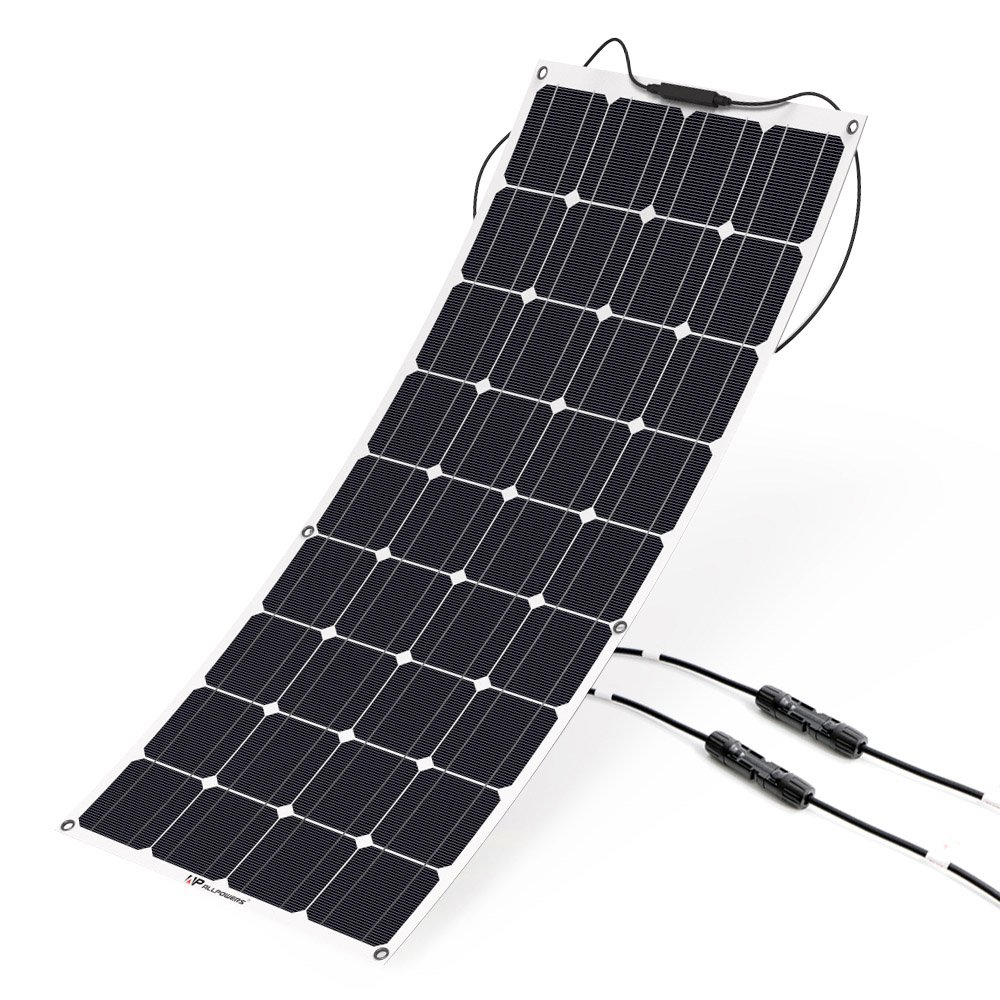 ALLPOWERS 100W 18V 12V Solar Panel Kit Charger Monocrystalline Lightweight Flexible with MC4 Connector Charging for RV Boat Cabin Tent Car (Compatibility with 18V and Below Devices)