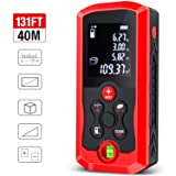 Laser Measure, ESYWEN 131ft Laser Tape Measure Mute Laser Measuring Tape with Bubble Level, LCD Backlight, Measure Distance/Area/Volume/Pythagorean Mode (Color: 131FT)