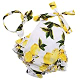 PrinceSasa 12m Girl Summer Clothes Baby Outfits with Headbands,yellow3,7-12 Months(Size M) (Color: Yellow3, Tamaño: 7-12 months)