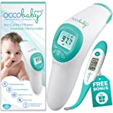 OCCObaby Clinical Forehead Baby Thermometer - 2018 Edition with Flexible Tip Waterproof Digital Thermometer for Infants & Toddlers | Instant Read Non-Contact Infrared Scanner (Tamaño: Limited Edition)