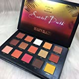 Beauty Glazed Professional Cosmetic15 Colors Long Lasting Sunset Dusk Eyeshadow Palette Collection (15 Colors Sunset Dusk) (Tamaño: 15 Colors)