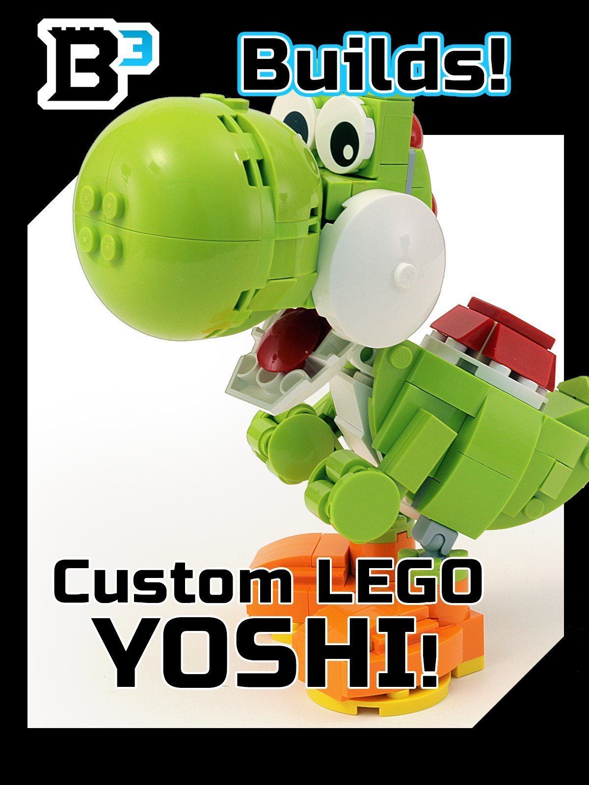 B3 Builds! Custom LEGO Yoshi Figure
