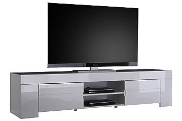 Porta tv Bianco Laccato Lucido Modello Eos