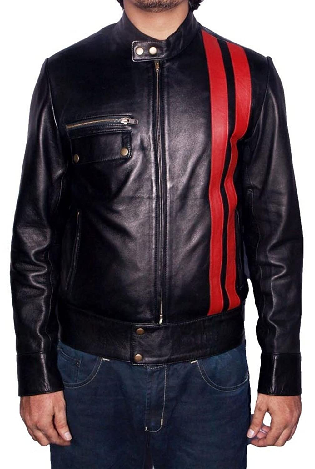 Men's Frankistian Sheep Black Leather Jacket