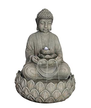 Fontaine decorative bouddha lumineux avec fleur de lotus amazon - Fleur de lotus bouddhisme ...