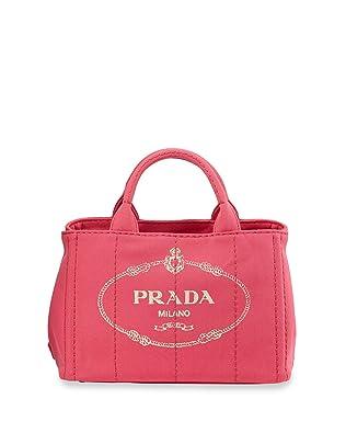 Prada Canapa Shopping Logo-Print Small Canvas Tote B2439G ...
