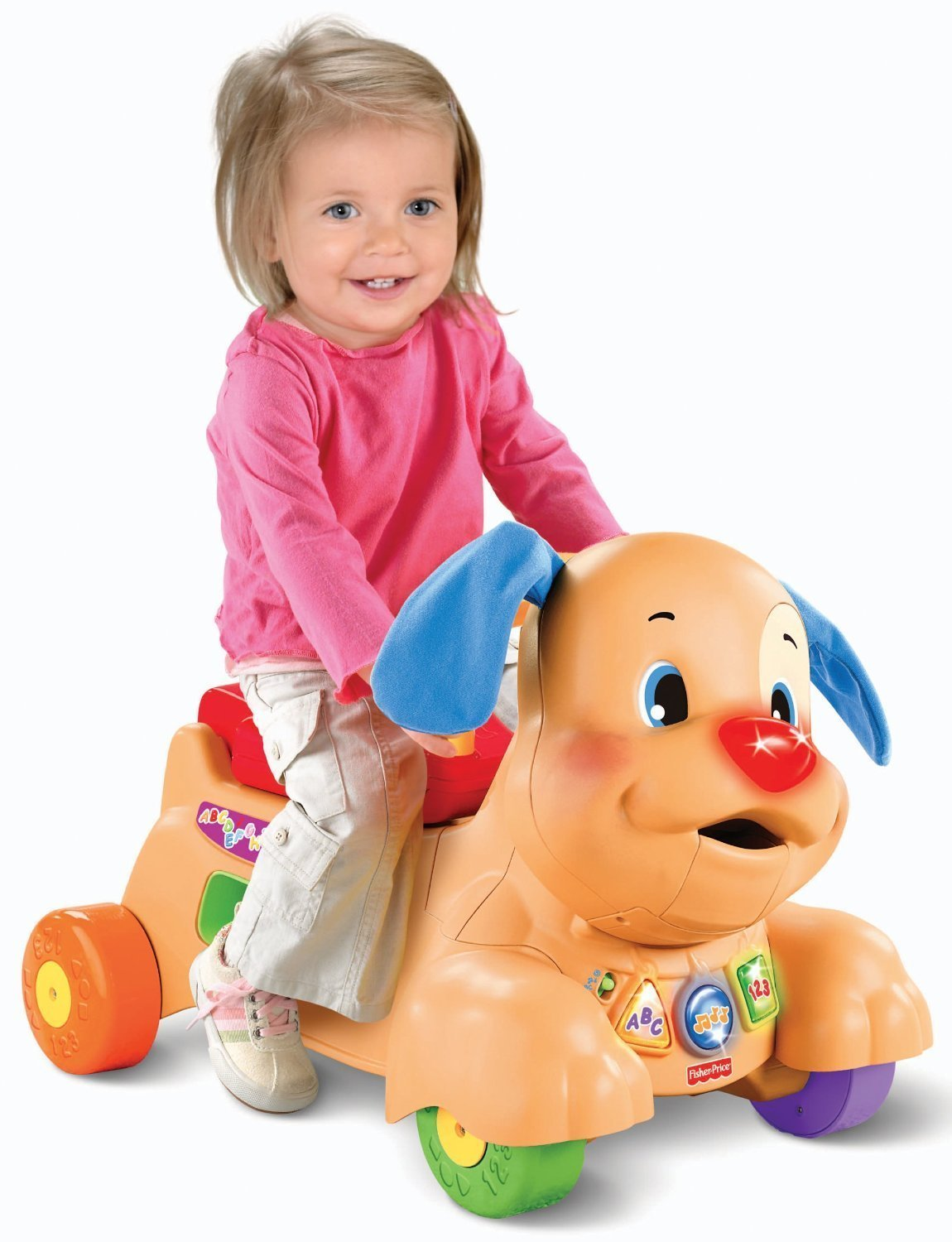 Fisher Price Laugh and Learn Stride to Ride Puppy