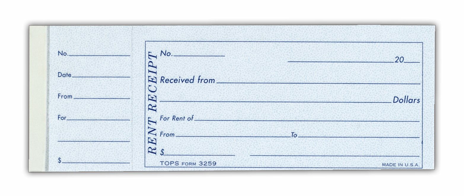 House Rent Receipt Book. Rent Receipt Book Template .  Free Printable Receipt Book