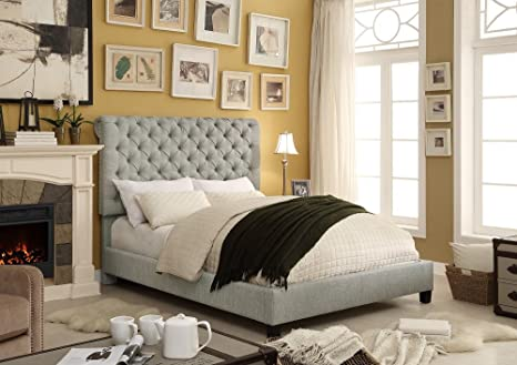 Millbury HOME Calia Gray Collection Tufted Platform Bed (Queen Size)