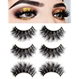3D Mink False Eyelashes-Dramatic Makeup Strip Eyelashes 100% Siberian Fur Fake Eyelashes Hand-made Natural Messy False Eyelashes& Reusable 3 Pair Package (Tamaño: R014)