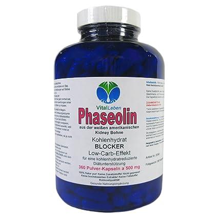 Phaseolin, weiße Kidney Bohne, Kohlenhydrat Blocker, 360 Pulver-Kapseln a 500mg, #25362