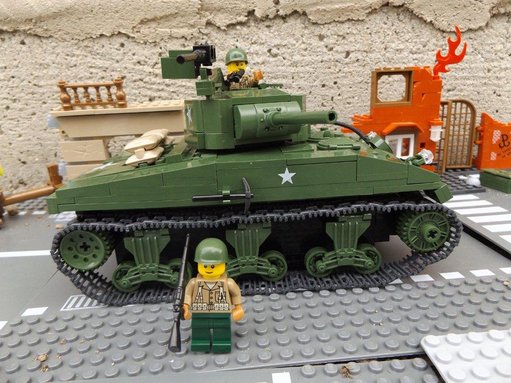 Modbrix 2464 – ★ US ARMY Panzer Sherman M4A1 inkl. custom US MARINES Soldaten aus original Lego© Teilen ★ günstig online kaufen