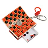 Pocket Game Checkers on Key Chain, Magnetic Pieces, Travel Activity.