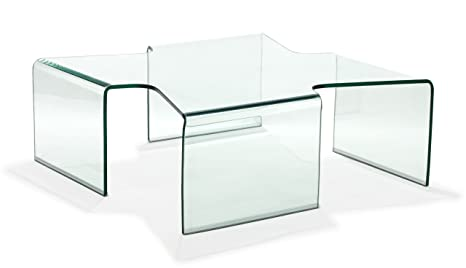 Zuo March Coffee Table, Clear Glass