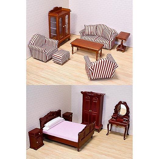 Melissa & Doug LLC style victorien maison de poupée meubles Bundle