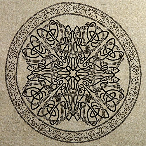 Colcha Mandala negro blanco 220x210cm Cortina