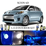 2014 Scion xD Ultra Blue LED Interior package + License Plate (6 pieces)