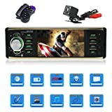 4.1 Inch Car stereo MP5 player Single Din Car stereo with bluetooth Car radio audio support Steering Wheel Control Rear View Camera Support USB AUX IN, TF Card