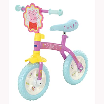 """Peppa Pig Rose 2 en 1 10 """"vélo de l'équilibre et la pédale de vélo"""