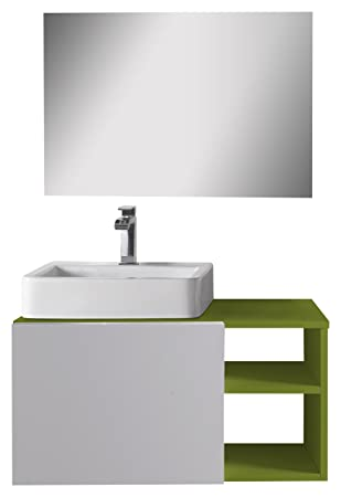 aleghe Fun Bathroom Cabinet - Green Glow