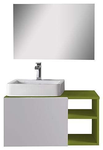 aleghe Fun–Mobile da bagno, colore: verde lucido