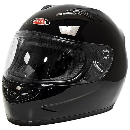 Akira 22434 Casque Moto Intégral Sapporo, Noir Brillant, L