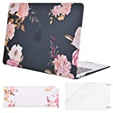 MOSISO MacBook Air 13 Inch Case 2018 Release A1932 with Retina Display, Plastic Pattern Hard Case Shell & Keyboard Cover & Screen Protector Only Compatible Newest MacBook Air 13, Peony Blossom (Color: Peony Blossom, Tamaño: 13 Inches)