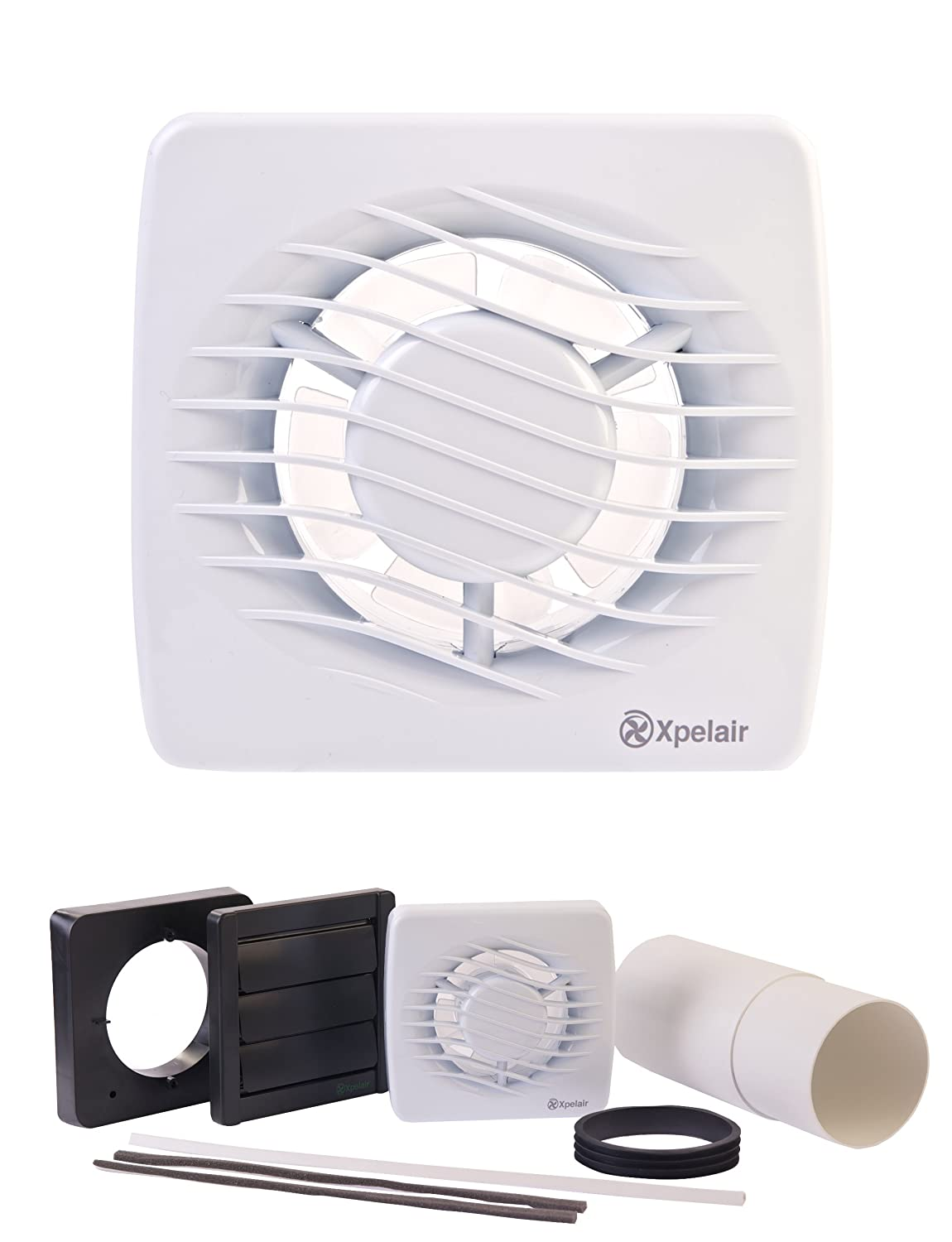 Xpelair dx100hta toilet bathroom extractor fan for 6 bathroom extractor fan with timer