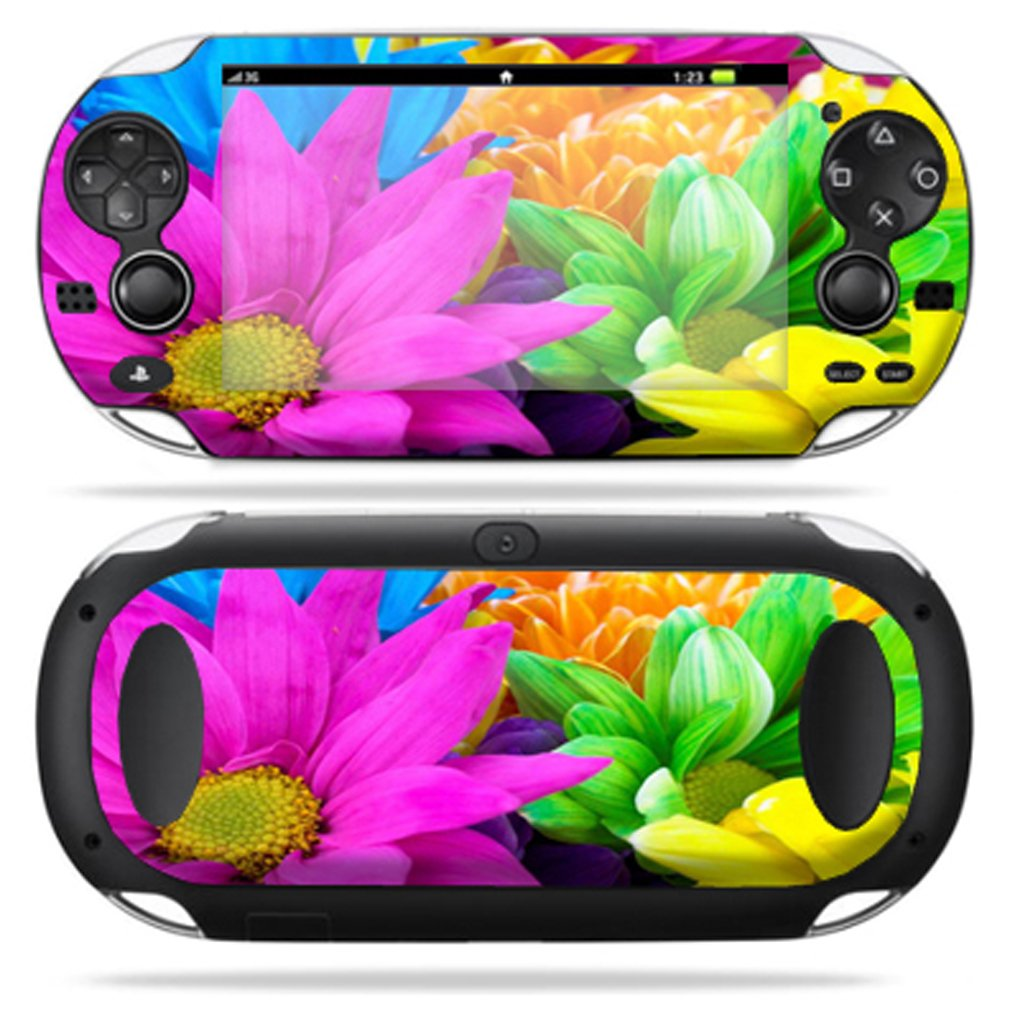 Protective Vinyl Skin Decal Cover for PS Vita PSVITA Playstation Vita Portable Sticker Skins Colorful Flowers new star wars power stormtrooper skin sticker for xbox one console 2pcs controller skin kinect protective cover