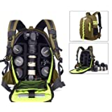 Abonnyc DRLBP-CZ Waterproof Anti-shock Backpack for DSLR and SLR Cameras (Green) (Color: Style 2 Green)