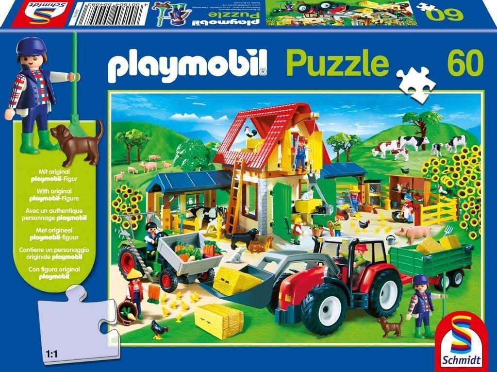 Schmidt Spiele 55458 – Playmobil, Bunter Bauernhof, 60 Teile Puzzle kaufen
