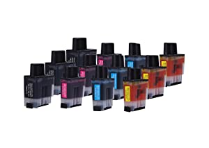12 Multipack de alta capacidad Brother LC-900 Cartuchos Compatibles 3 negro, 3 ciano, 3 magenta, 3 amarillo para Brother DCP-110C, DCP-115C, DCP-117C, DCP-120C, DCP-310CN, DCP-315CN, DCP-340CW, FAX-1835C, FAX-1840C, FAX-1940CN, FAX-2440C, MFC-210C, MFC-215C, MFC-3240C, MFC-3340CN, MFC-410CN, MFC-425CN, MFC-5440CN, MFC-5840CN, MFC-620CN, MFC-640CW, MFC-820CW. Cartucho de tinta . LC-900BK , LC-900C , LC-900M , LC-900Y © 123 Cartucho  Oficina y papelería Comentarios y más información