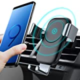 TORRAS Wireless Car Charger Mount, Auto-Clamping 7.5W / 10W Fast Cell Phone Charger Holder Compatible with iPhone Xs/Xs Max/XR/X / 8/8 Plus, Samsung Galaxy Note 9 / S9 / S9+ / S8 / S7, More (Color: Black)