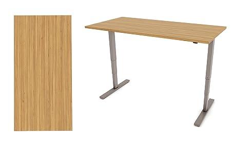 SMART2ERGO Breeze 1.2l sit-stand, altezza regolabile da scrivania | MFC scrivania | telaio argento | doppio motore | silenzioso | ospita desktop tra 1200mm–1600mm Wide | Adatto per la casa/ufficio piccolo 1200mm Oak