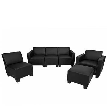 syst me de canap modulaire modulaire lyon ensemble simili cuir noir cuisine maison z13. Black Bedroom Furniture Sets. Home Design Ideas
