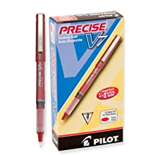 Pilot Precise V7 Stick Rolling Ball Pens, Fine Point, Red Ink, Dozen Box (35352)