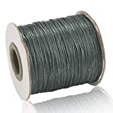 Craftdady 185 Yards Waxed Polyester Cord 0.5mm Thick Braided Bracelet Jewelry Making Beading Thread String (Gray) (Color: Gray, Tamaño: 0.5mm)