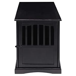 Casual Home 600-42 Wooden Pet Crate, 20W x 27.5D x 24H, Black (Color: Black, Tamaño: 20W x 27.5D x 24H)