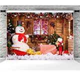 Christmas Photo Backdrop 7x5ft Winter Snowman Photography Background Studio Props Photographic Booth Backdrop for Holiday Decorations (Color: 6146, Tamaño: 7x5ft)