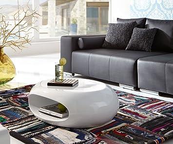 couchtisch elypse 80x26 cm weiss hochglanz fiberglas 26cm. Black Bedroom Furniture Sets. Home Design Ideas