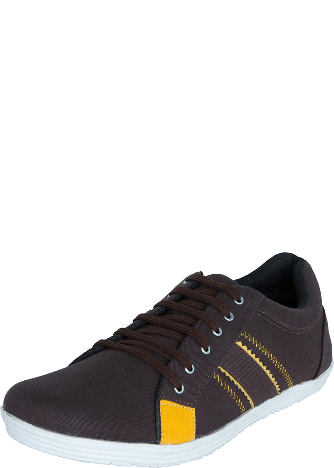 Zovi Men Brown Zig Zag Casual Shoes