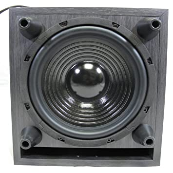 Acoustic Audio PSW10 Home Theater Powered Subwoofer Black Down Firing Sub