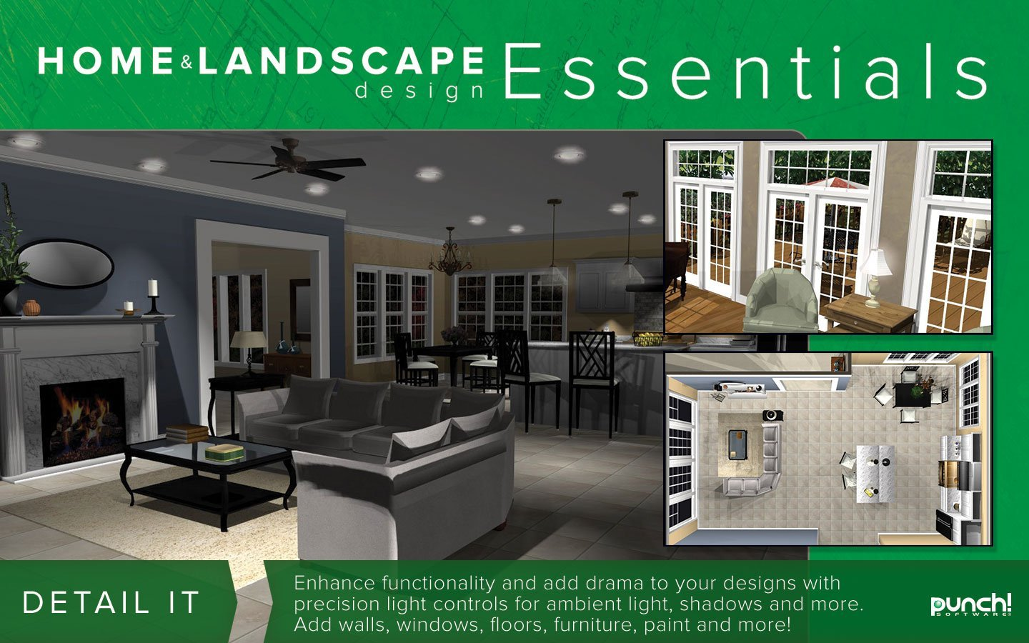 Punch home landscape design essentials v18 download for Landscape design computer programs