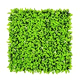 ULAND Artificial Shrubs Greenery Panels, Ivy Grass Hedges Panels, Wall Plant Decoration for Outdoor, Garden Fence, Pack of 6pcs 20