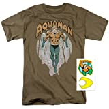 Aquaman DC Comics King of Atlantis T Shirt (XX-Large) (Color: Brown, Tamaño: XX-Large)