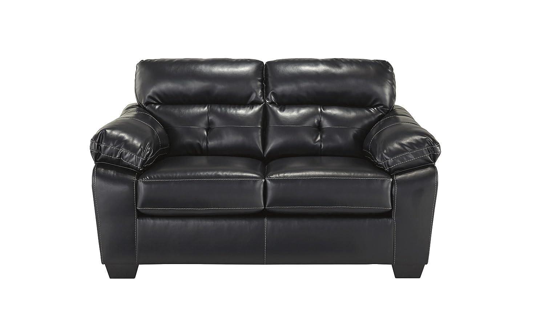 Bastrop Durablend Black faux leather Loveseat