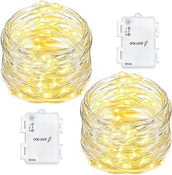 Oak Leaf 60 LED String Lights